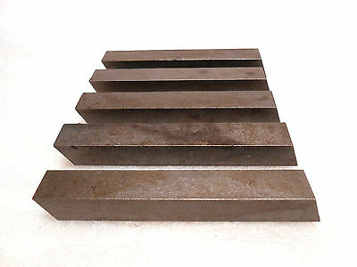 """3/8"""" Square x 3"""" Long UNGROUND High Speed Steel Tool Bits Lathe Bits 5 pieces"""
