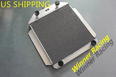 "2.2"" Radiator For Ford Car Flathead V8 Engine M/t 1949-1953 All-Aluminum 1000Hp"