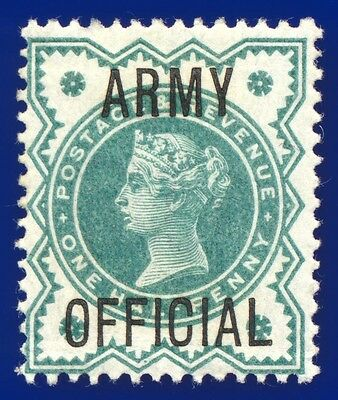 1900 SGO42 ½d Blue Green Army Official Mounted Mint Cat £10 ACSH