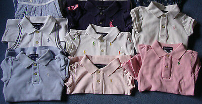 Ralph Lauren Kids Girls Bundle Polo Shirt baby Dress Tops upcycled 1 2 T job lot