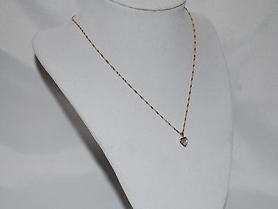 10K Gold necklace with diamond heart pendant