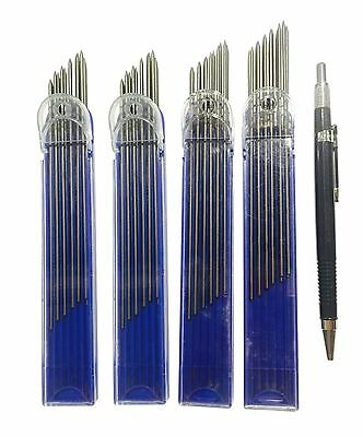BUILDER CARPENTER CLUTCH PENCIL 2mm + 48 REFILLS equal to 49 Pencils TOP QUALITY