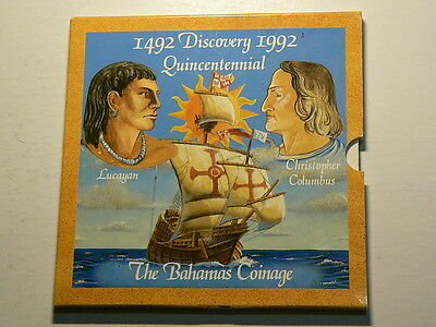 Commonwealth Of The Bahamas, 1492 1992 Quincentennial, 7 Coin Year Set  #4694