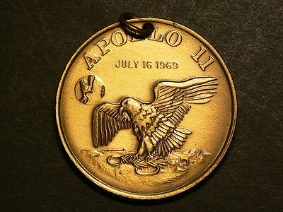 US Apollo II Project 1969, Brass Medal, 23.6g, 40mm #4930