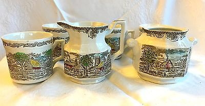 6 piece Wedgwood Shakespeare Sonnets Creamer/Sugar/4 Cups (182)