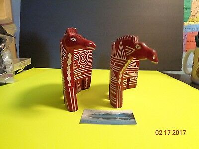Soapstone Zebra Figurines Hand Carved Home Decor Collectibles (2)