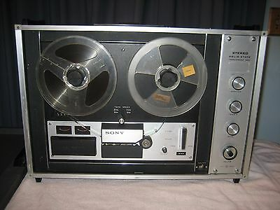 """Vintage Sony Tapecorder Tc-260 Reel To Reel Player Recorder """"look"""""""
