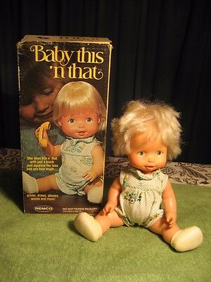 """Vintage Remco Baby This N That With Original Clothes & Box """"look"""""""