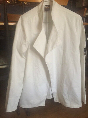 'Pro Chef' White Long Sleeve Tunic Tops Qty 2