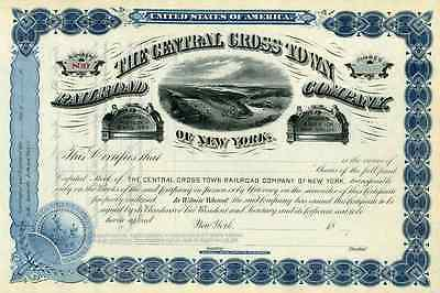 18__ Central Cross Town RR of New York Stock Certificate