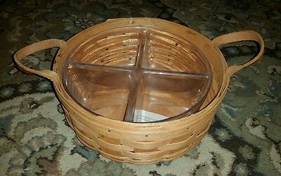 Longaberger darning basket 1990 great condition basket with protector