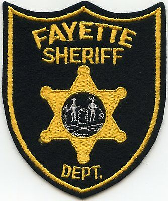old vintage felt FAYETTE COUNTY WEST VIRGINIA WV SHERIFF POLICE PATCH