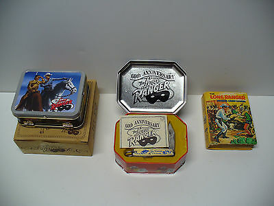 LONE RANGER pocket knife, tin lunch box and Little Big book