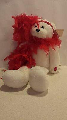 Chantilly Lane - Musical Roxie Bear with Red Boa /Sings, I Wanna Be Loved By You