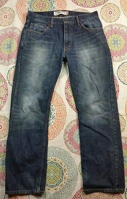 Levi's Mens Size 32 X 30 505 Straight Fit Jeans hn