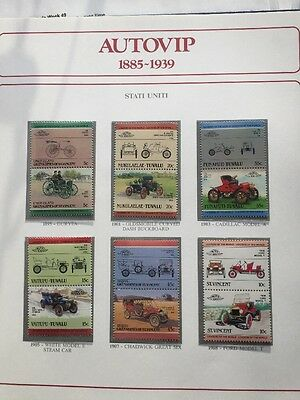 AUTOVIP 1885-1939. Bolaffi collection of 103 mint car stamps in a binder.