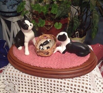 Vintage OOAK Boston Terrier Family