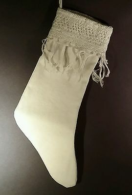 Stocking made from antique victorian teatowel