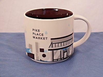 Excellent! 2015 Starbucks You Are Here Pike Place Market Coffee Mug Cup