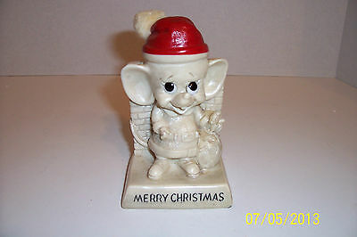 Merry Christmas Russ Berrie And Walter Berrie Figurine With Hat And Goody Bag