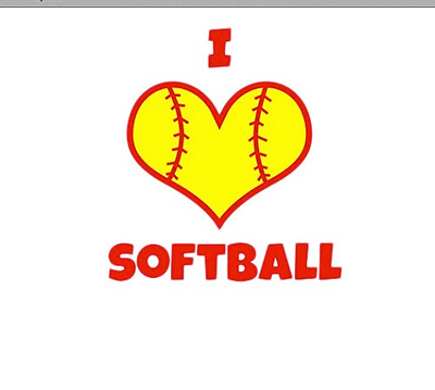 I Love Softball - Women's Softball T Shirt