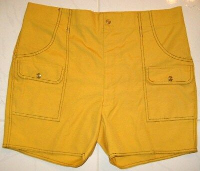MARTY WALKER New York City CABANA SHORTS YELLOW VINTAGE 1970's Men's SIZE 40