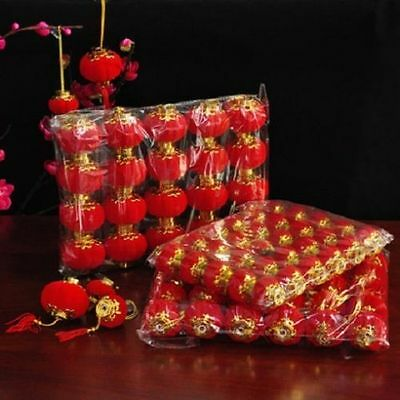 Red Small Lantern Decor Chinese New Year Spring Festival Wedding Supply Ornament