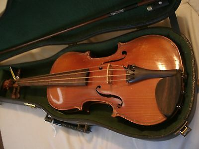 Old Stainer  Violin 3/4 With Case And Bow