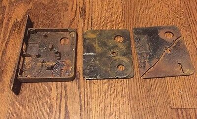 Vintage Skeleton Door Latch Housing Cast Iron Bathroom Or Regular Door