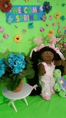 """VINTAGE 16"""" CABBAGE PATCH KIDS CLOTHES HOMEMADE. Overalls outfit"""