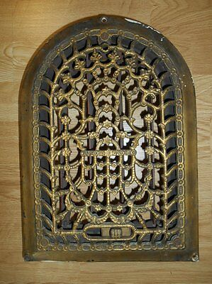 Ornate Antique Cast Iron Arch Top Heating Grate Vent Architectural Salvage vents