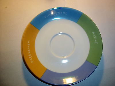 """Mary Kay Hand Crafted Cup Saucer/Plate, Pastel Colors, 5 3/4"""" diameter"""