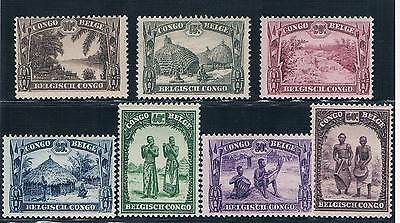 Congo - Belgian Colonial - Set Of 7 Old Stamps Mnh ( Conb 650 )