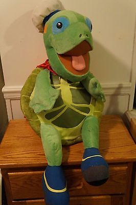 "GIANT FISHER PRICE 31"" NICK JR Plush WONDER PETS Green TUCK The TURTLE"