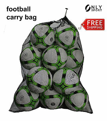 Mesh carry bag soccer football basketball rugby sport draw string