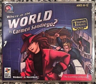 Where In The World Is Carmen Sandiego? (Pc) Brand New Sealed - Win10, 8, 7, Xp