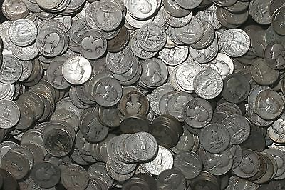 THREE ROLLS OF WASHINGTON QUARTERS (1932-64)  90% Silver  (120 Coins)  LOT F11