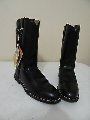 Justin JBL3000 Women's Boots Size 8 C Black Western Riding Cowboy Motorcycle New