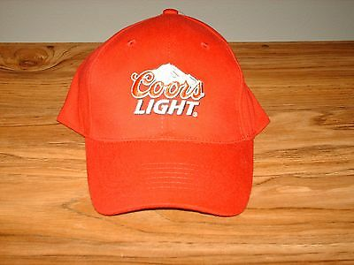 NEW! COORS LIGHT Red Baseball Hat, Cap, Adjustable