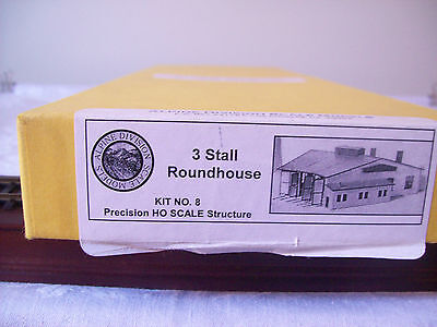 Ho Scale Alpine Division Scale Models 3 Stall Roundhouse & Locomotive Inspectio