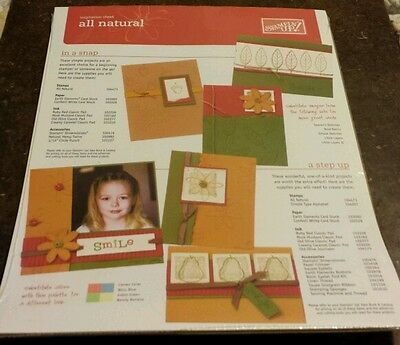 25 Stampin Up Inspiration Sheets- All Natural