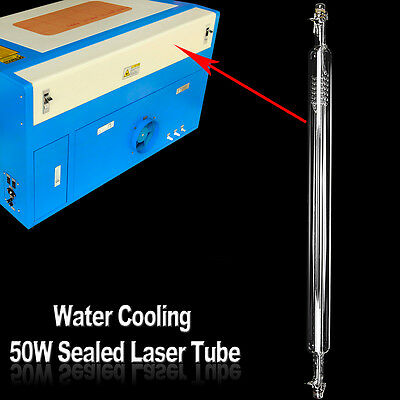50W Sealed Laser Tube For CO2 Laser Engraving Cutter Cutting Engraver Machine