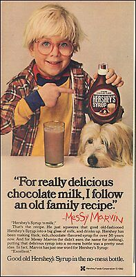 1982 AD HERSHEY'S Chocolate Syrup w/ Peter Billingsly of Christmas Story 083015