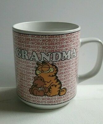 Vintage Garfield Mug 1978 Birthday Gift BEST GRANDMA