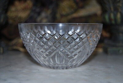 Wonderful Vintage Dublin Ireland Cut Clear Crystal Small Table Or Cabinet Bowl