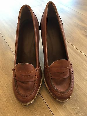Country Road Women's Leather Shoes Brown Size 36