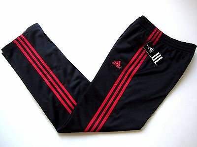 NWT ADIDAS Performance Boys Athletic Track Sweat Pants Black/Red XL (18)