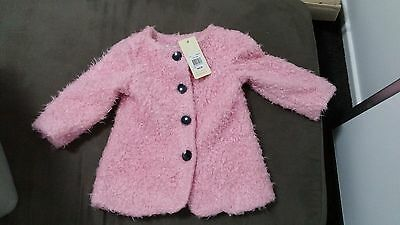 MYER Jack and Milly Pink vintage coat size 2 NEW