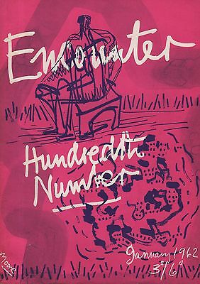 ENCOUNTER MAGAZINE (January 1962) 100th ISSUE - HENRY MOORE COVER - ANGUS WILSON