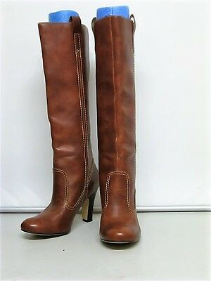 Smart Brown Correlli Pull On Knee Length Boots Fits Size 7.5-8